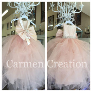 06f4b194a8 Mini Bride Flower Girl Dress Blush Pink
