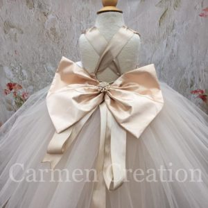 9e82933041 Mini Bride Flower Girl Dress Champagne Gold